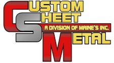 Maine's custom sheet metal logo