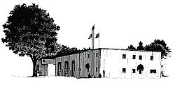 B/W drawing of Maine's Collision Repair & Body Shop